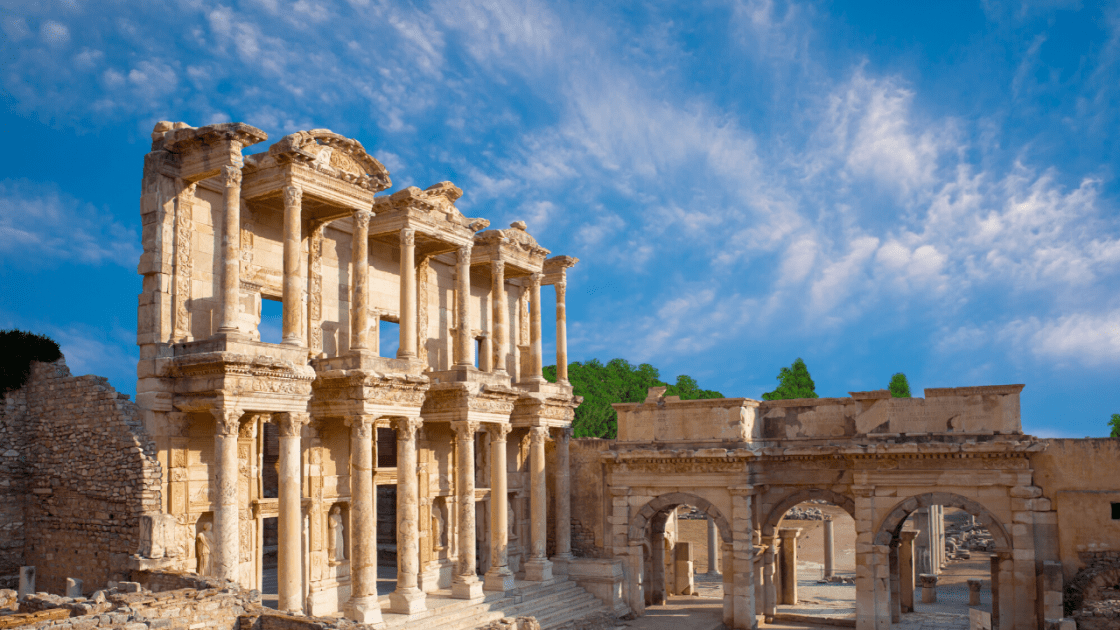 Ephesus-archaeological site-Celsus-Library
