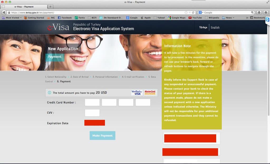 visa ödeme sayfası