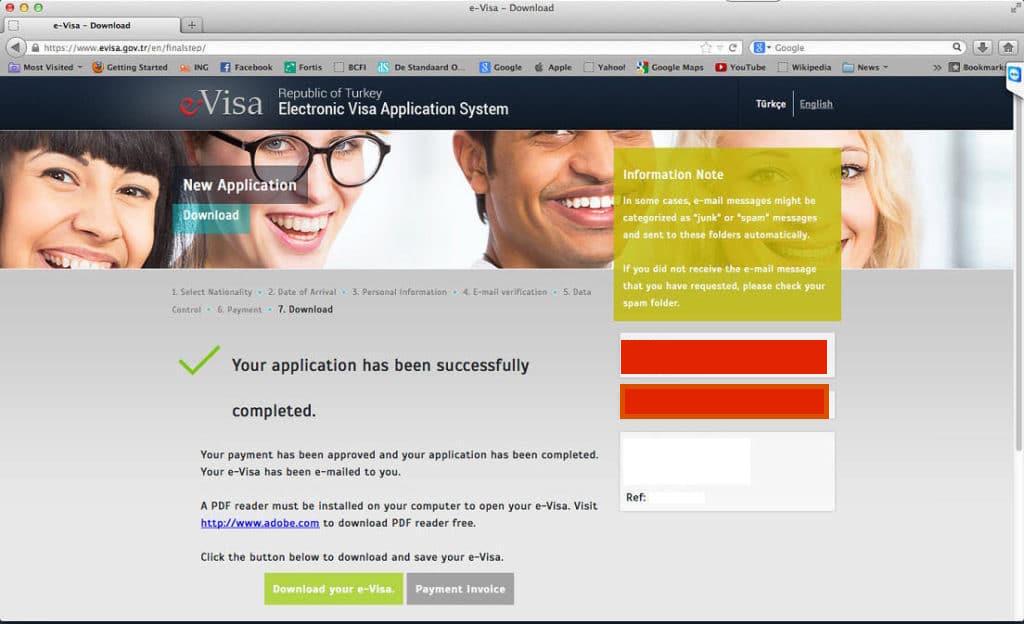 visa onay sayfası