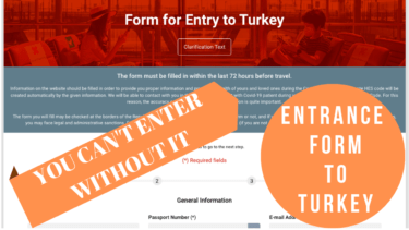 entrance form to turkey