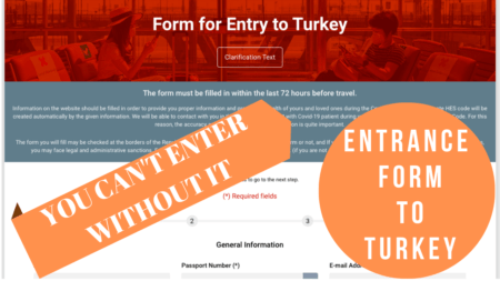 entrance form to turkey