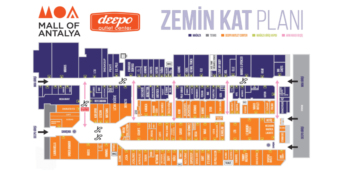 deepo outlet center map