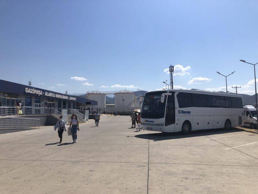 gazipasa airport havas shuttle