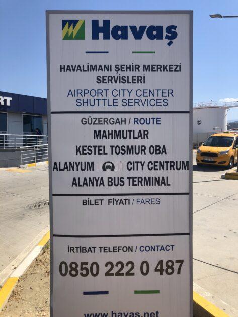 Gazipasa Ariport Bus Schedule