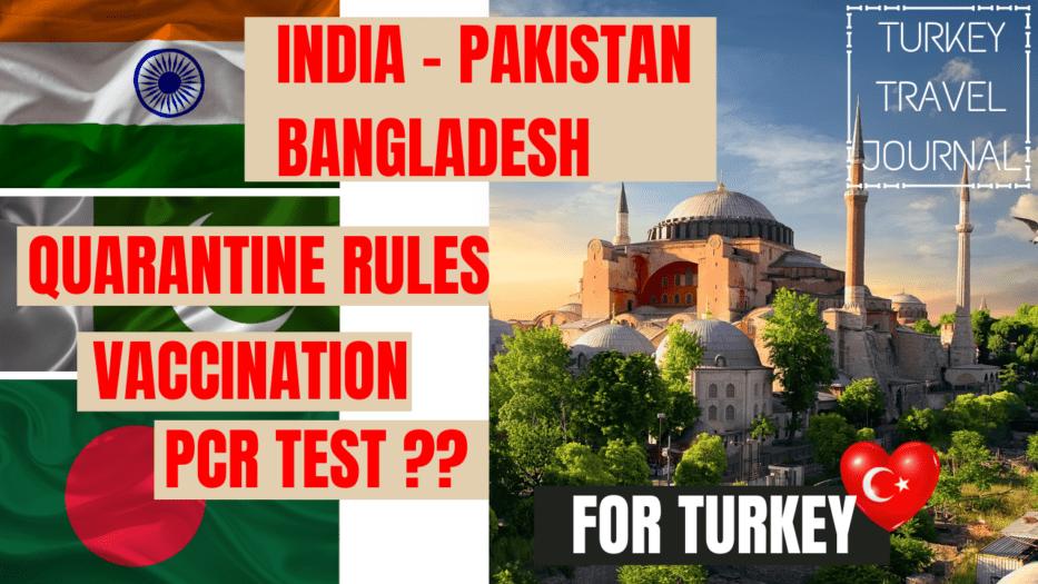 Turkey quarantine rules for india_pakistan_bangladesh
